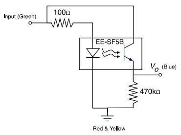 Schematic for reflective light sensor